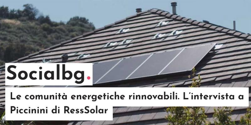 Le comunità energetiche rinnovabili. L'intervista a Piccinini, presidente del Gruppo Piccinini 0